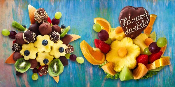 Letné maškrty - ovocné kytice!
