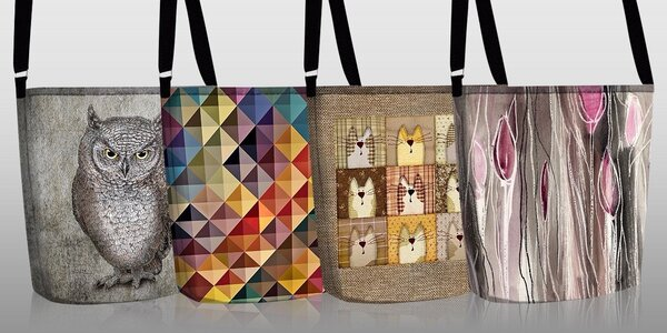 Hravé a originálne ECO kabelky so štýlovou potlačou
