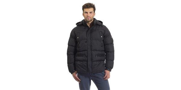 Pánska čierna prešívaná páperová bunda Bleifrei