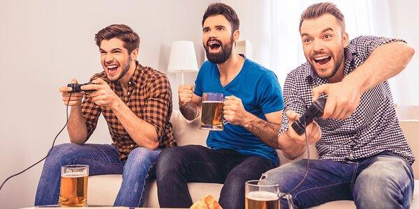 Dve pivká a hodina hrania Playstation 4 pre dvoch