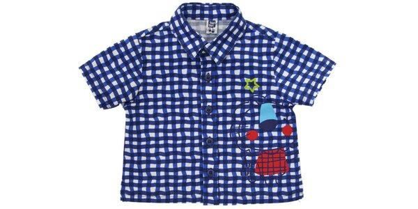 Modrá kojenecká košeľa Tuc Tuc s levíkom