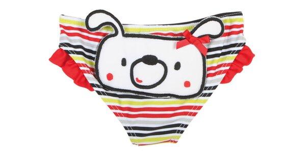Pruhované kojenecké plavkové nohavice Tuc Tuc so psíkom