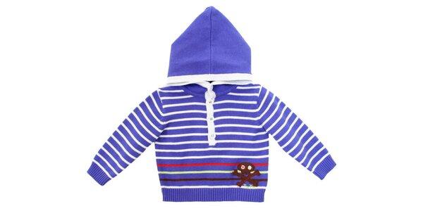 Fialový námornícky sveter s kapucou Tuc Tuc