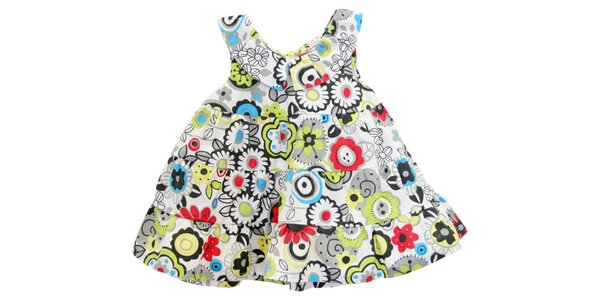 Detské kvetované volánové šaty Tuc Tuc