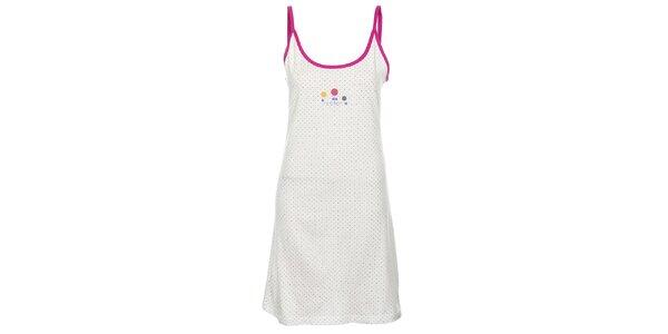Dámska bielo-fialová nočná košeľa Isma