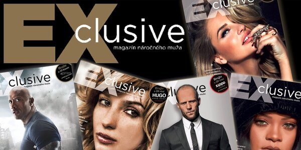 Exclusive - magazín náročného muža: Dvanásť čísiel za cenu ôsmich