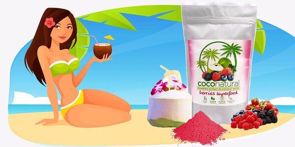 Instantná kokosová voda Coconatural Pure alebo Redberries