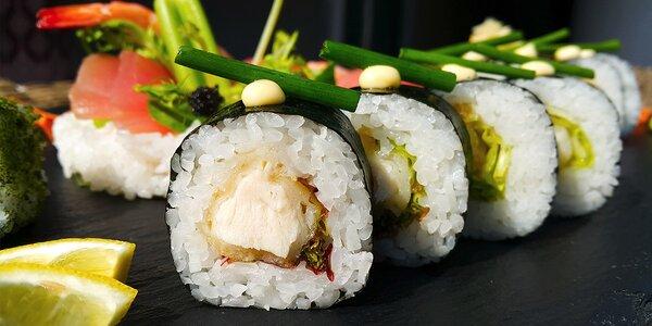 Letný sushi set (35 kúskov) a ryžový šalátik so zeleninou