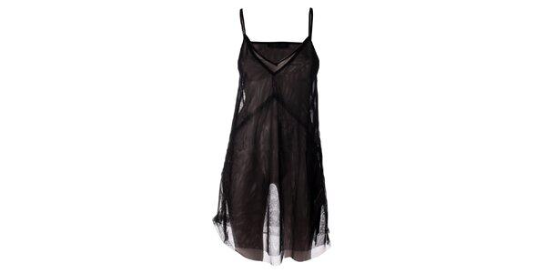 Dámska čierna transparentná spodnička Twin - Set