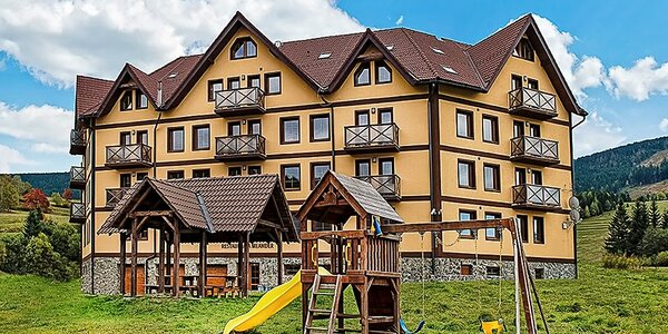 Relax a turistika v apartmánoch s polpenziou v Slovenskom Raji