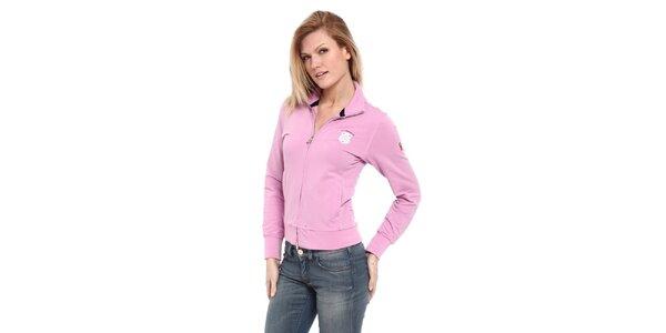 Dámska svetlo ružová mikina s logom Cooperativa