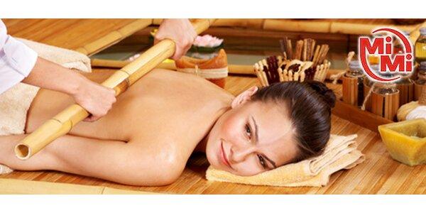 Hodinová bambusová masáž