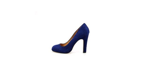 Dámske kobaltovo modré semišové lodičky La Strada
