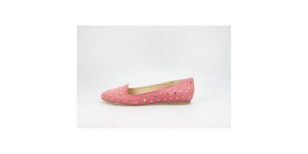 Dámske korálovo červené sultánky s farebnými kamienkami La Strada