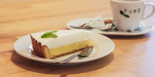 Espresso s mliekom a domáca francúzska citrónová torta - U nás doma!