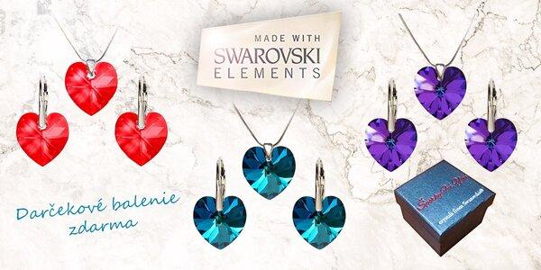 Darčekový set Swarovski v tvare srdca