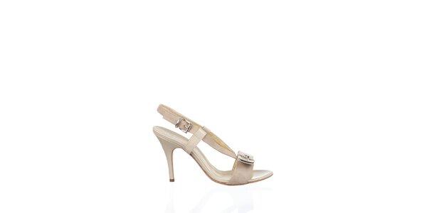 Dámske krémové kožené sandálky Gianfranco Ferré