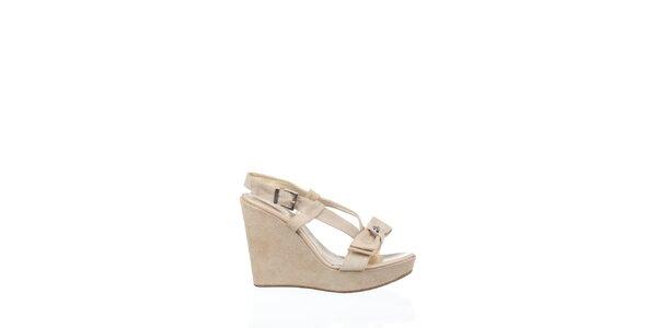 Dámske krémové sandálky Gianfranco Ferré na vysokom podoätku