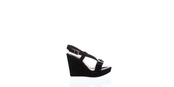 Dámske čierne sandálky Gianfranco Ferré na vysokom podoätku