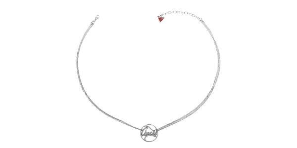 Dámsky strieborný náhrdelník Guess s príveskom