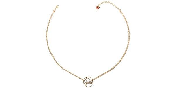 Dámsky zlatý náhrdelník Guess s príveskom
