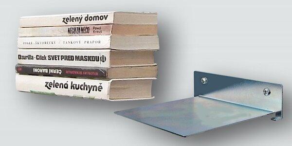 Neviditeľná nástenná polička na knihy
