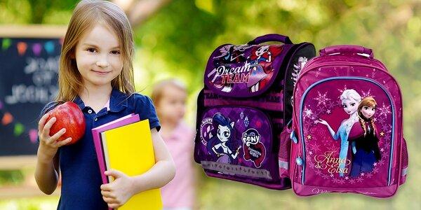 Anatomické dievčenské školské tašky alebo vaky