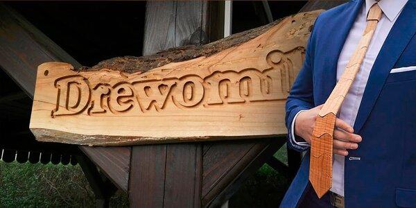 Výnimočná a štýlová drevená kravata