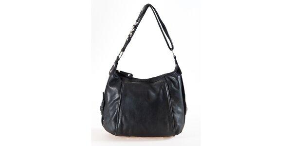 Dámska čierna kožená kabelka Luisa Vannini