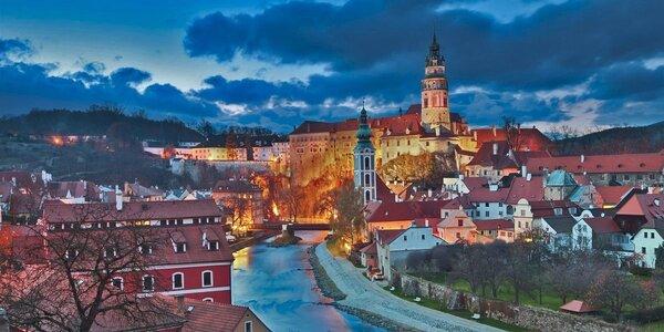 2 alebo 3 romantické noci s raňajkami v Českom Krumlove pre 2–4 osoby