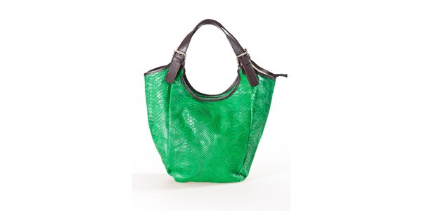 Dámska zelená kabelka s hadím vzorom Luisa Vannini