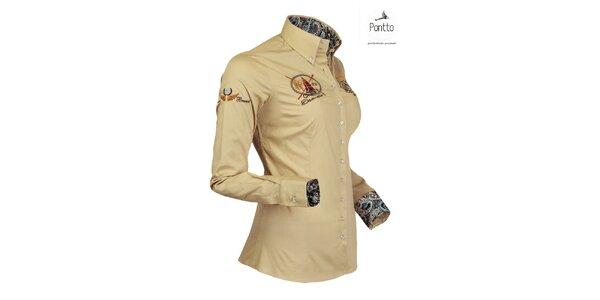 Trendy jachtárska košeľa Pontto
