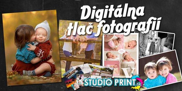 Digitálna tlač fotografií vo formáte A3, A4, A5 a A6