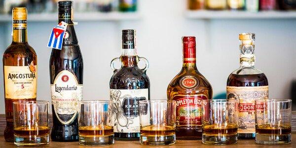 Ochutnávka exkluzívnych rumov