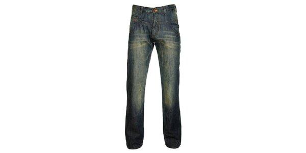 """Pánske """"špinavo"""" modré džínsy Timeout"""