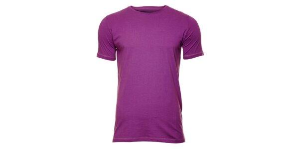 Pánske fialkové tričko Timeout
