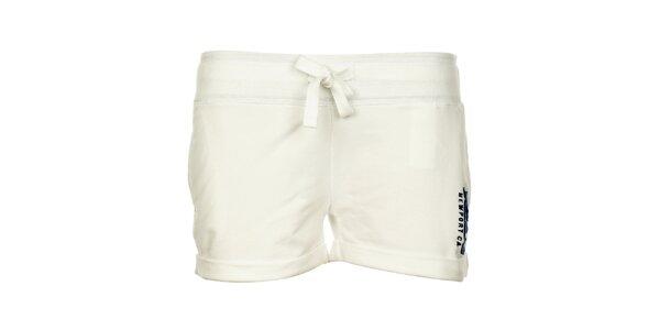 Dámske biele bavlnené minišortky Timeout