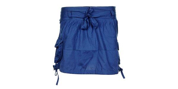 Dámska modrá sukňa Timeout s kapsami