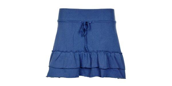 Dámska tmavo modrá volánová sukňa Timeout