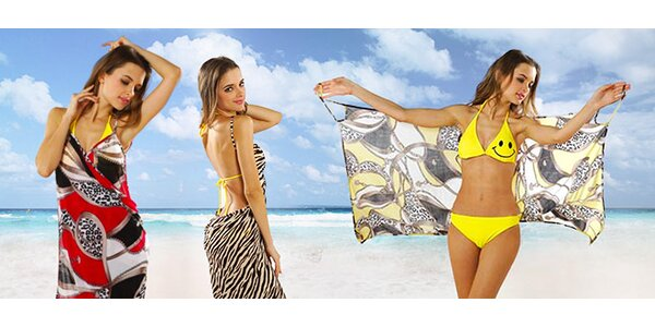 Dámske plážové šaty v 4 farebných prevedeniach