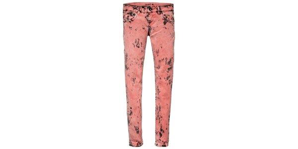 Dámske ružovo-čierne šisované skinny Pepe Jeans