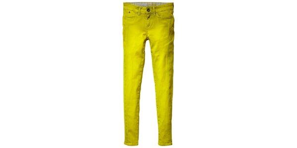 Dámske neonové žlto-zelené skinny Pepe Jeans