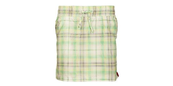 Dámska zelená kockovaná sukňa Sam 73