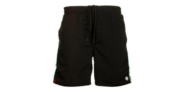 Pánske čierne šortky Sam 73