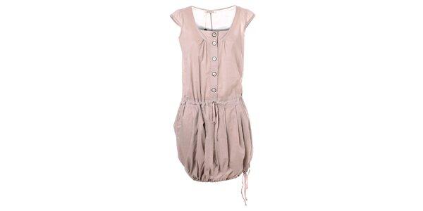 Dámske béžové šaty s balónovou sukňou Bleifrei