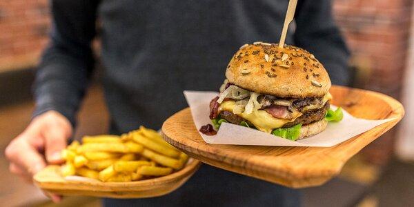 Kráľ všetkých burgerov! Divinový burger a hranolčeky v Sherwood Grill & Bare!