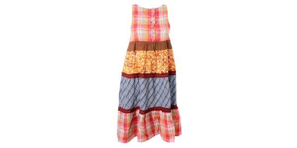 Dámske pestrofarebné vzorované šaty s volánikmi Bleifrei