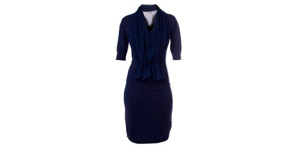 Dámske modré letné šaty z dielne Bleifrei