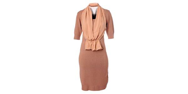 Dámske svetlo béžové šaty Bleifrei