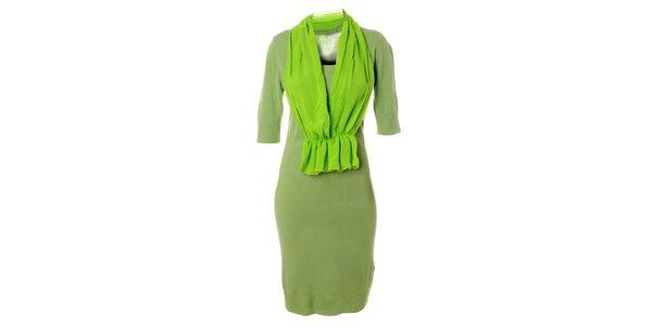 Elegantné dámské zelené šaty od Bleifrei